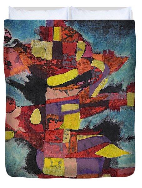 Fractured Fire Duvet Cover by Mark Jordan