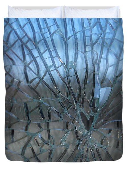 Fractured Heart Duvet Cover