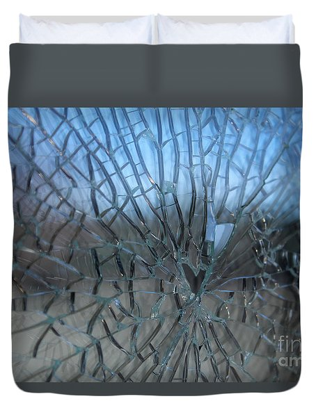 Fractured Heart Duvet Cover