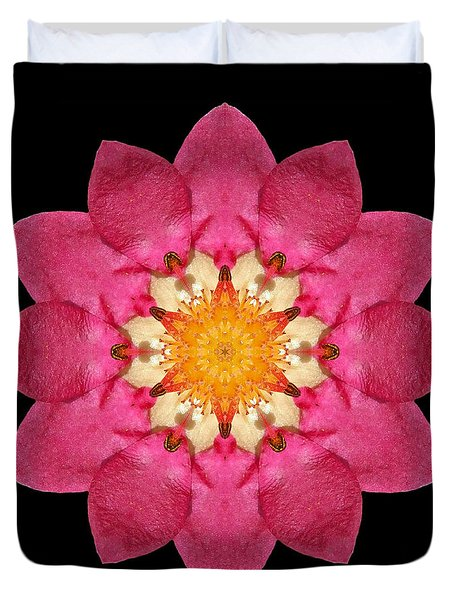 Fragaria Flower Mandala Duvet Cover