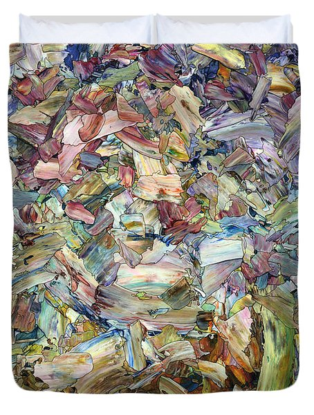 Duvet Cover featuring the painting Roadside Fragmentation by James W Johnson