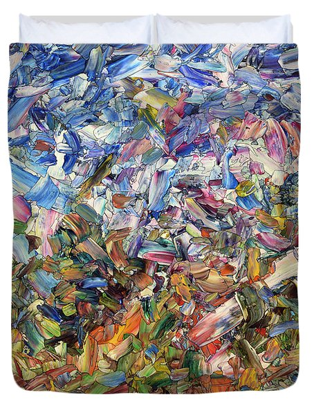 Fragmented Garden Duvet Cover