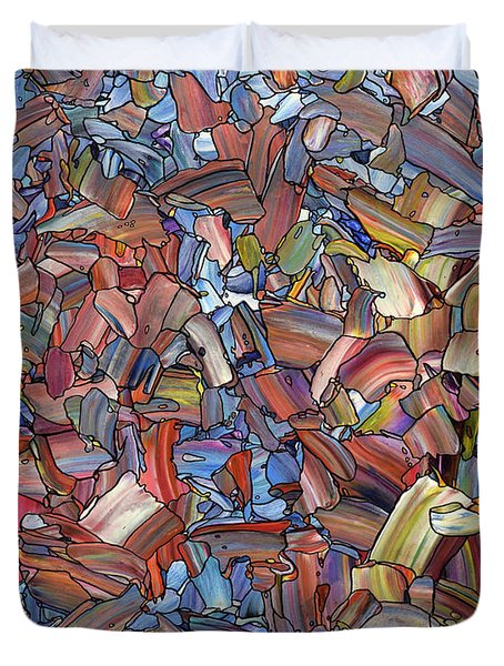 Duvet Cover featuring the painting Fragmented Rose by James W Johnson