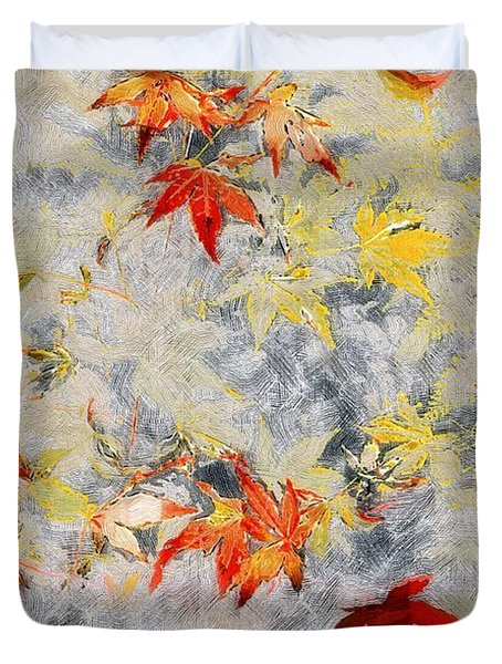 Fragments Of Fall Duvet Cover by RC deWinter