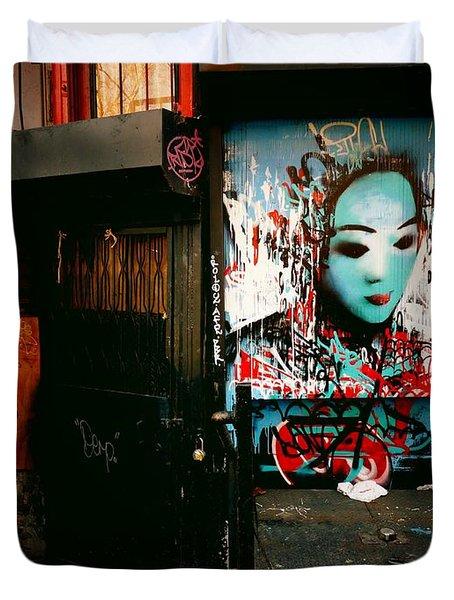Fragments - Street Art - New York City Duvet Cover by Vivienne Gucwa