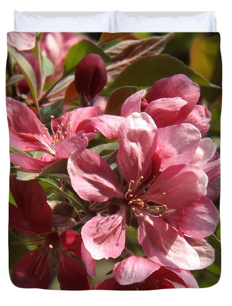Fragrant Crab Apple Blossoms Duvet Cover by Brenda Brown