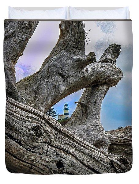 Framed Lighthouse Duvet Cover by Robert Bales