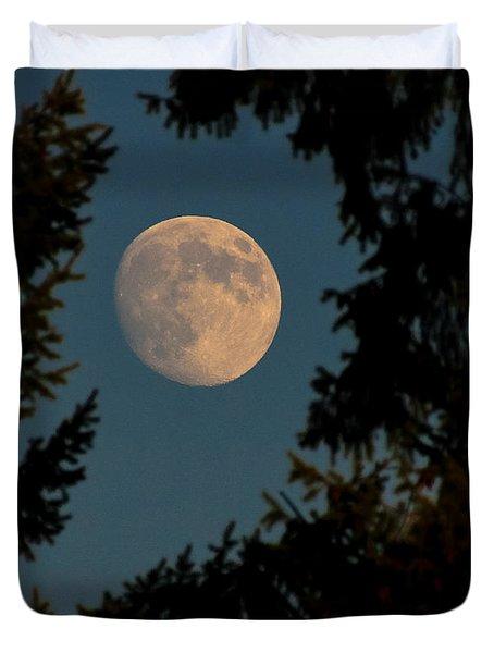 Framed Moon Duvet Cover