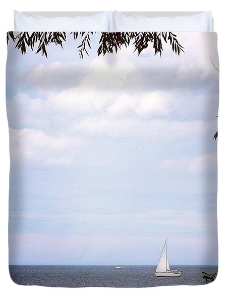 Framed Sailboat Duvet Cover