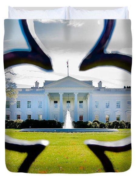 Framed Whitehouse Duvet Cover by Greg Fortier