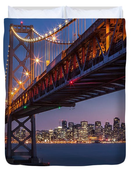 Framing San Francisco Duvet Cover by Mihai Andritoiu