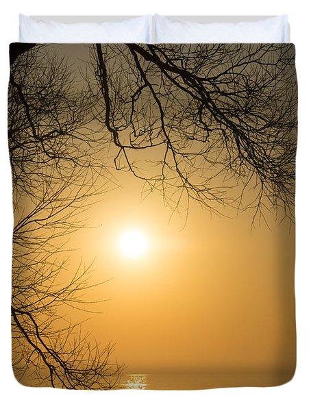 Framing The Golden Sun Duvet Cover by Georgia Mizuleva