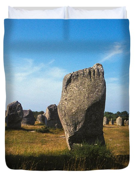 France Brittany Carnac Ancient Megaliths  Duvet Cover by Anonymous