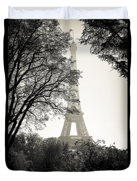 The Eiffel Tower Paris France Duvet Cover