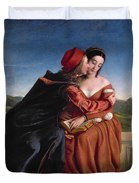 Francesca Da Rimini, Exh. 1837 Oil On Canvas Duvet Cover