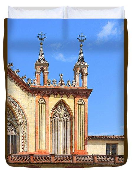 Franciscan Monastery In Nice France Duvet Cover by Ben and Raisa Gertsberg
