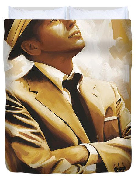 Frank Sinatra Artwork 1 Duvet Cover by Sheraz A