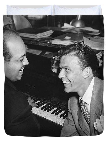 Frank Sinatra At Stork Club Duvet Cover