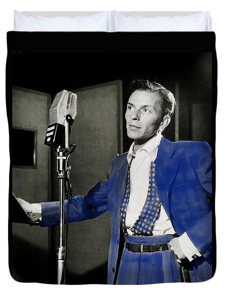 Frank Sinatra - Old Blue Eyes Duvet Cover