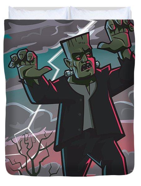 Frankenstein Creature In Storm  Duvet Cover