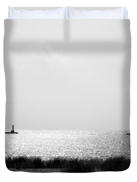 Frankfort Michigan Harbor Duvet Cover