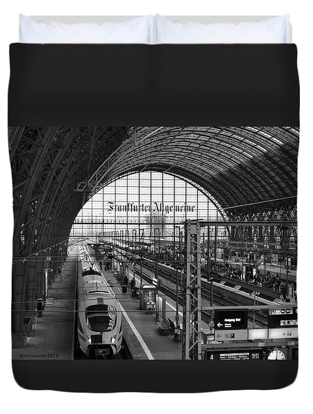 Frankfurt Bahnhof - Train Station Duvet Cover
