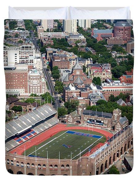 Franklin Field University City Pennsylvania Duvet Cover by Bill Cobb