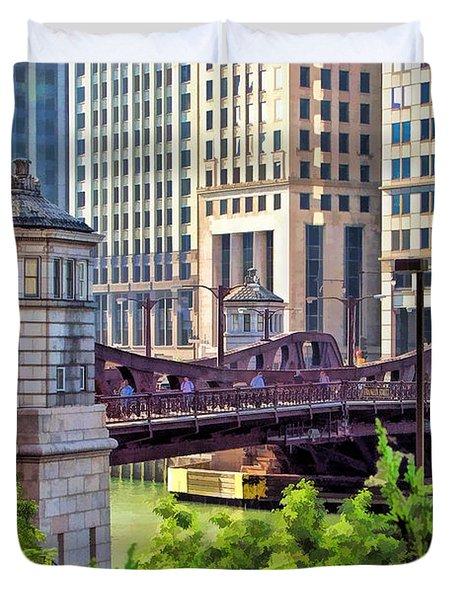 Franklin Street Bridge Duvet Cover