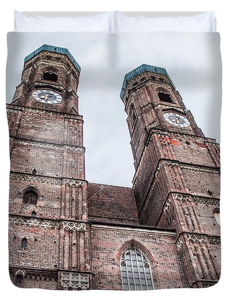 Frauenkirche Duvet Cover by Hannes Cmarits