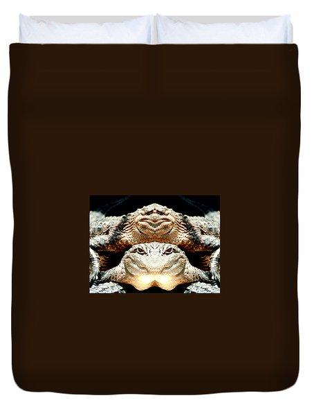 Love Them Freaky Florida Gators Duvet Cover by Belinda Lee