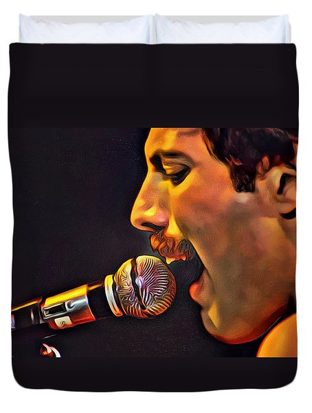 Freddie Mercury 2 Of 4 Duvet Cover