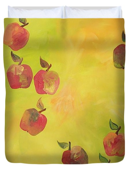 Free Apples Duvet Cover by PainterArtist FIN