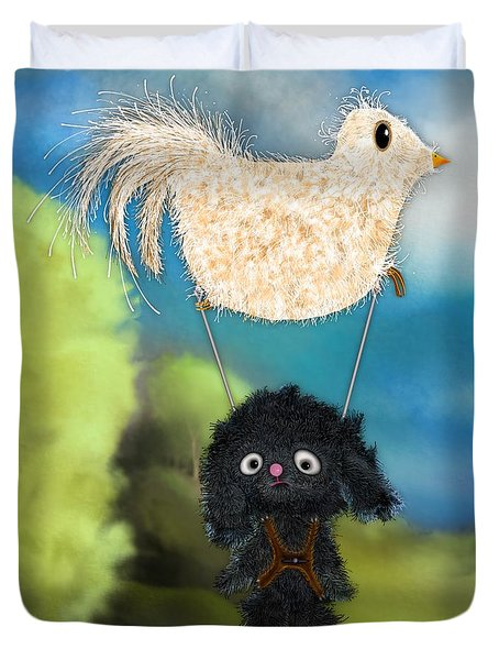 Free As A Bird Duvet Cover