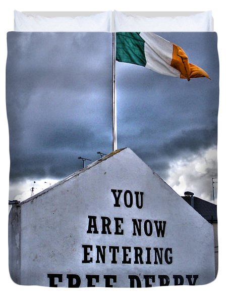 Free Derry Wall Duvet Cover by Nina Ficur Feenan