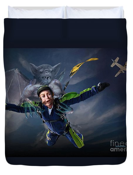 Free Fall Into Darkness Duvet Cover by Joseph Juvenal