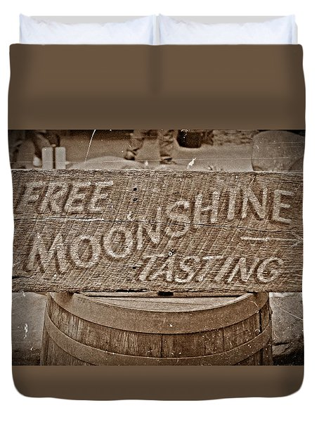 Free Moonshine Duvet Cover