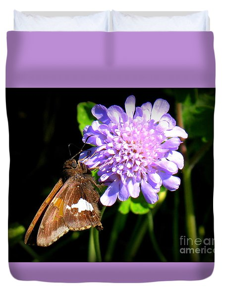 Silver Spotted Skipper Duvet Cover by Patti Whitten