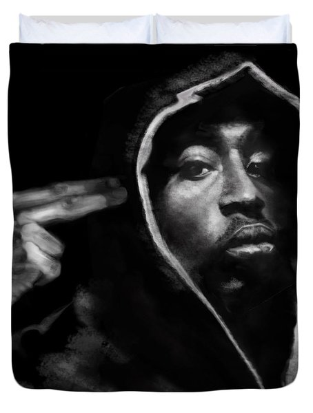 Free Will - 2 Pac Duvet Cover by Reggie Duffie