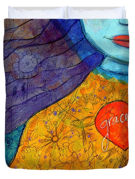 Free Your Mind And Grace Will Follow Duvet Cover
