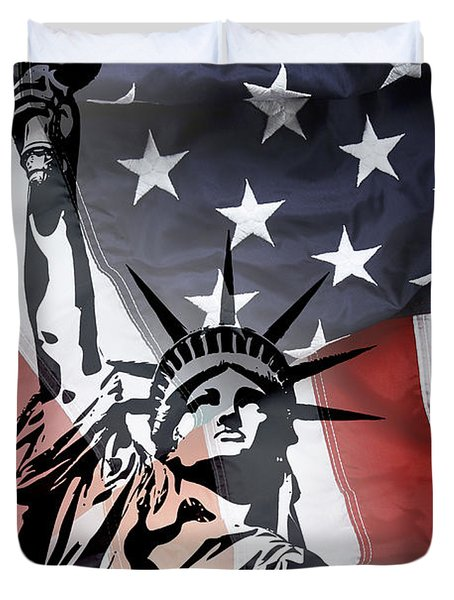 Freedom For Citizens Duvet Cover by Daniel Hagerman