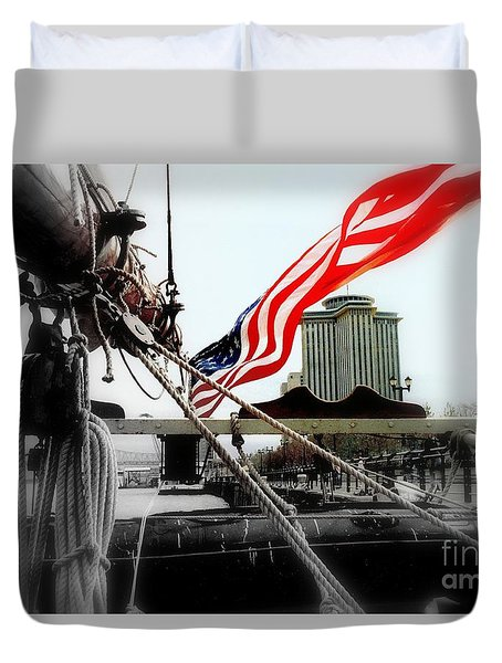 Duvet Cover featuring the photograph Freedom Sails by Michael Hoard