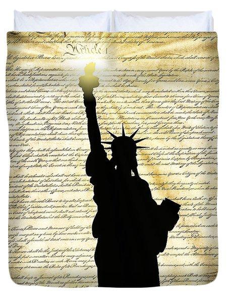 Freedoms Light Duvet Cover by Daniel Hagerman