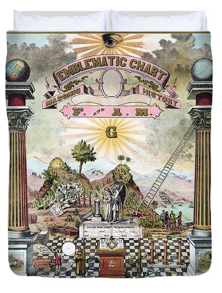 Freemason Emblematic Chart Duvet Cover