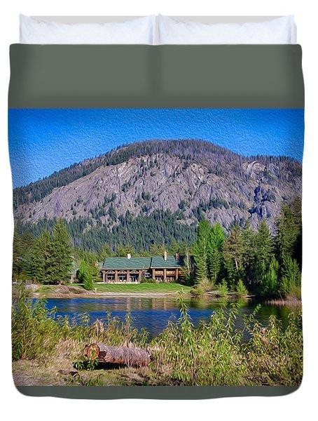 Freestone Inn Lakeside View Duvet Cover by Omaste Witkowski