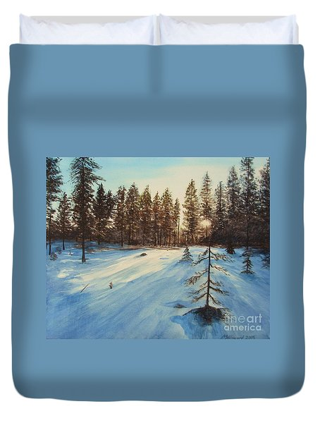 Freezing Forest Duvet Cover
