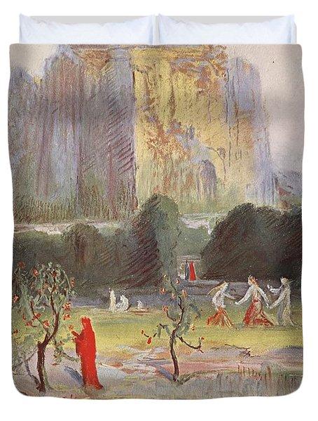 Freias Garden, 1906 Duvet Cover