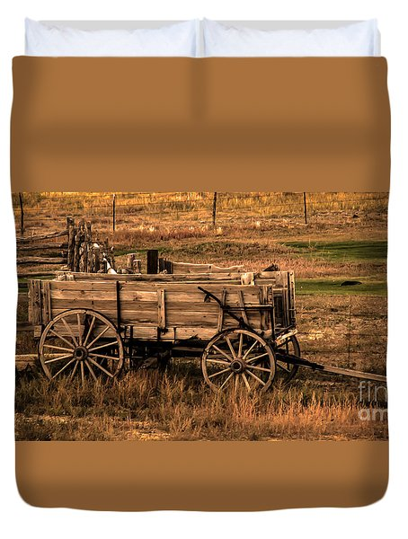 Freight Wagon Duvet Cover by Robert Bales