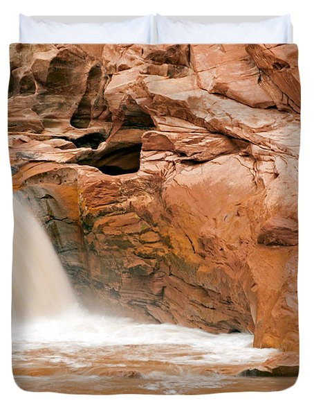 Fremont River Falls Capitol Reef National Park Duvet Cover