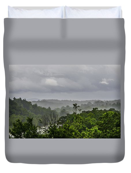 Duvet Cover featuring the photograph French Broad River by Carolyn Marshall