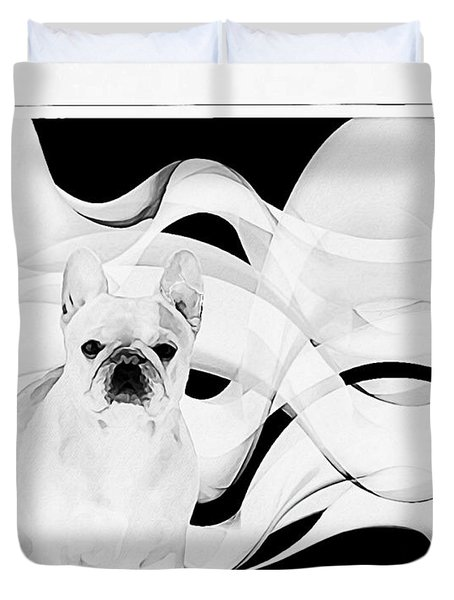Duvet Cover featuring the painting French Bulldog by Barbara Chichester